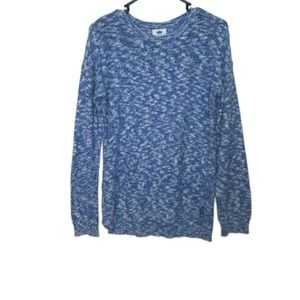Old Navy Blue & White Pull Over Sweater Shirt